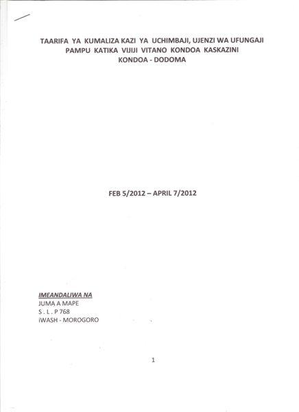 Kondoa Shallowwell Pg.1